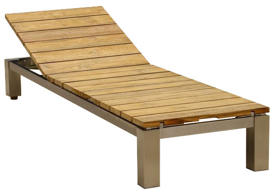 Ibiza chaise lounge douglas nance teak wholesale for Adirondack chaise