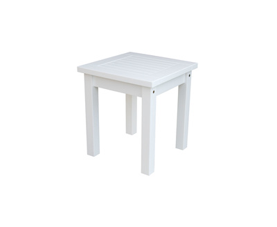 "Classic White 18"" Side Table"