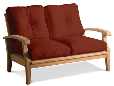 Cayman Deep Seating Teak Loveseat