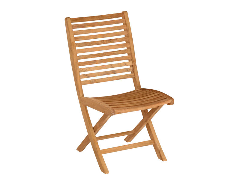 Bali Folding Teak Dining Side Chair