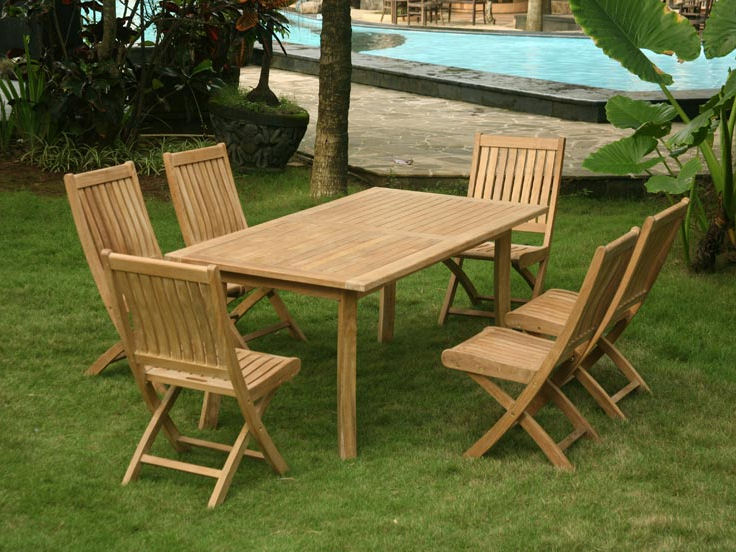 Classic Folding Teak Dining Side Chair