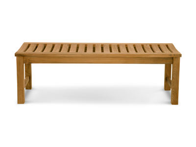 Douglas Nance Classic 5' Teak Backless Bench