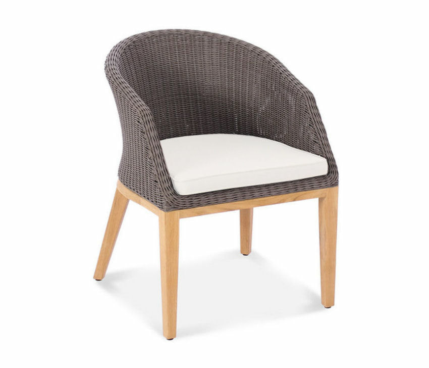 Capri Teak and Wicker Armchair