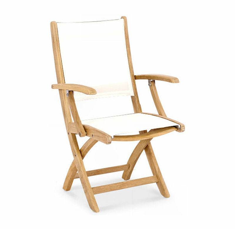 Riviera Teak and Sling Armchair