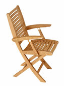 Bali Teak Folding Dining Armchair