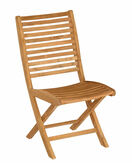 Bali Teak Folding Dining Side Chair