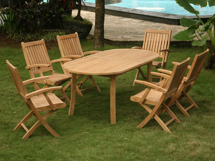 "Classic 57""-77"" Teak Extension Dining Table"