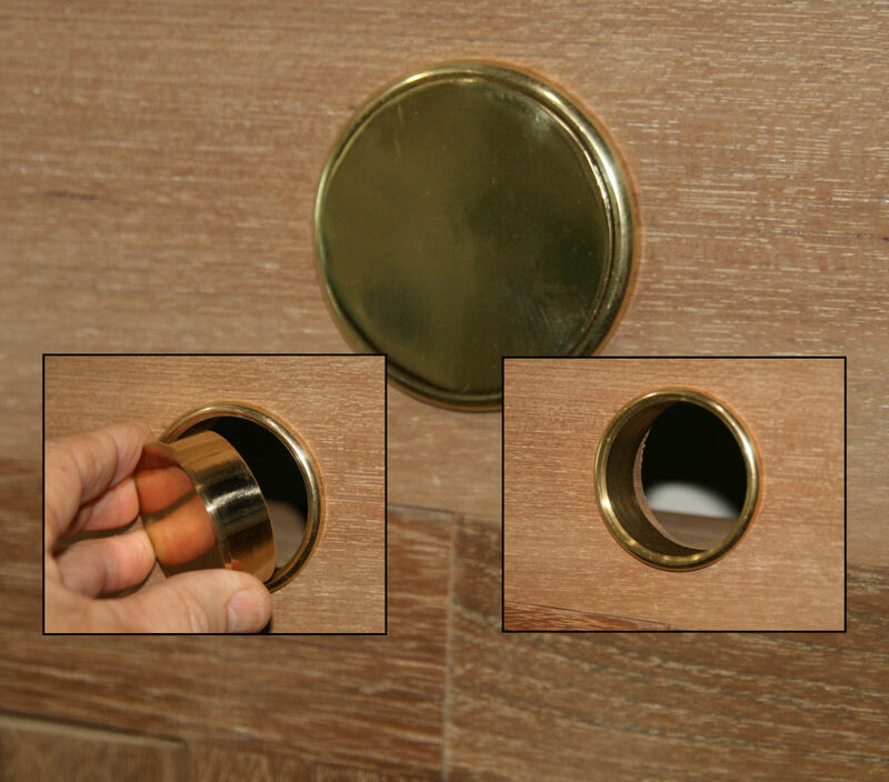 Brass fittings for umbrella hole.